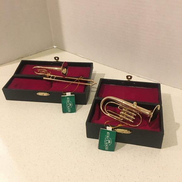 NWT Kurt Adler Musical Instrument Brass Ornaments